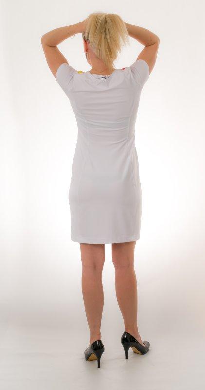 Dámské šaty Baronesa - Jiskřivé proudy zezadu