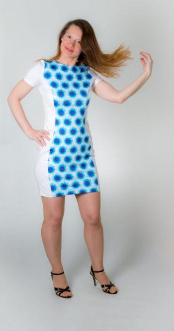 Dámské šaty Baronesa - Modré diamanty zepředu