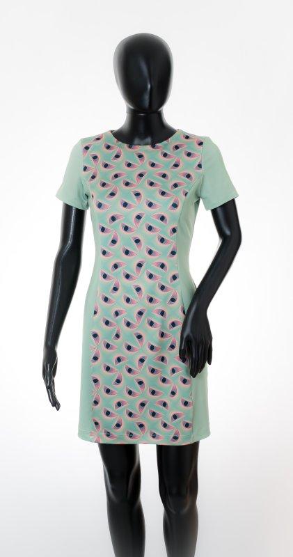 Dámské šaty Baronesa - Smaragové oči na figurině