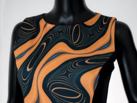 Dámské šaty Baronesa - Energizující proudy žluté detail