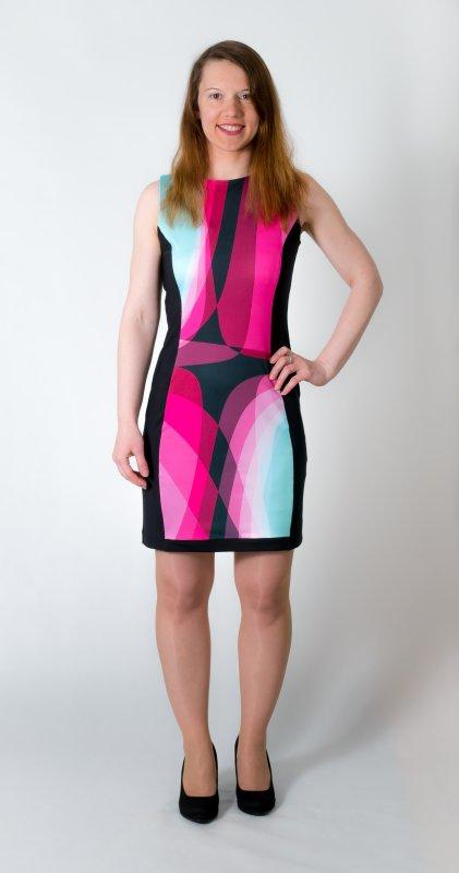 Dámské šaty Baronesa - Růžový tangens zepředu