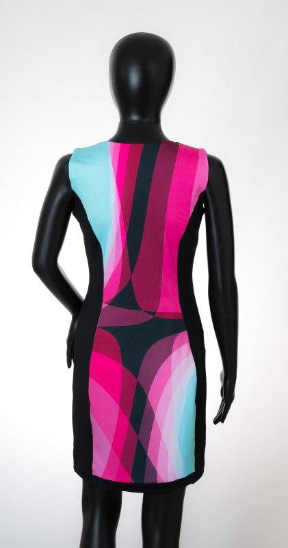 Dámské šaty Baronesa - Růžový tangens na figurině