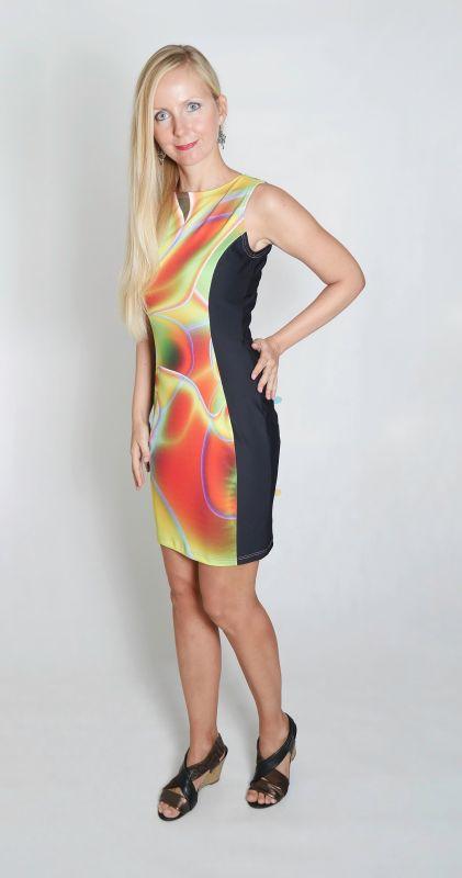 Dámské šaty Baronesa - Něžné vlny z boku